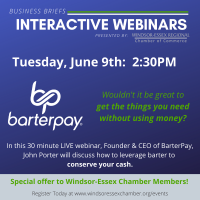 BarterPay - Business Briefs Interactive Webinars -  Limited to 100 Guests