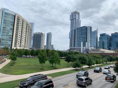 Downtown Austin on Cesar Chavez Blvd