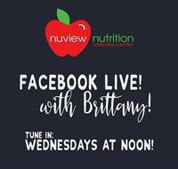 Ask the Expert LIVE! with Nuview Nutrition's Brittany Golden!