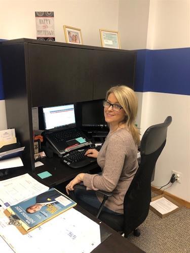 Michelle at work!