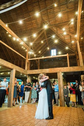 Dance Floor inside the barn