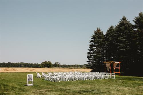 A variety of ceremony site options