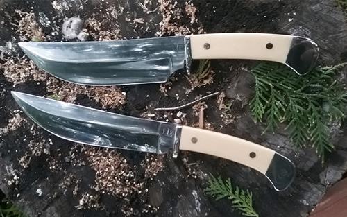 Pair of custom made knives