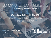 October Webinar: Cyber Risk Strategy and Resilience Plan