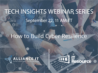 Webinar: How to Build Cyber Resilience