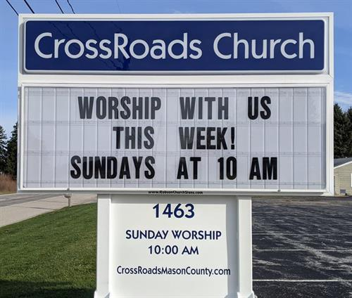 All are welcome for our Sunday morning worship service at 10 am.