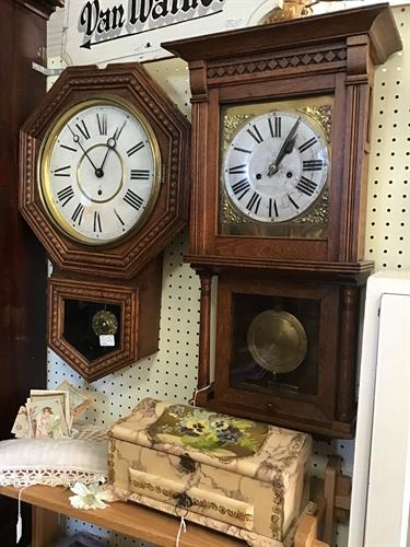 Lots of clocks throughout our store