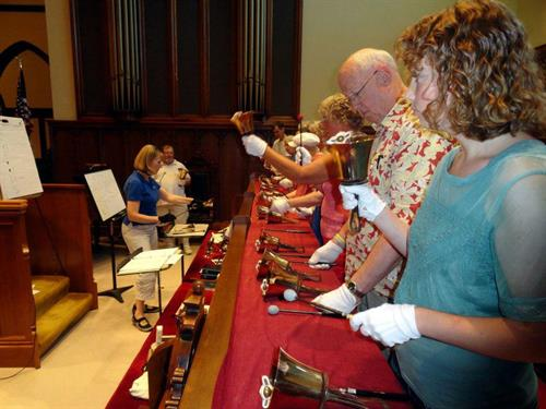 Bell Choir workshop - Bell choir plays in service once a month during the school year