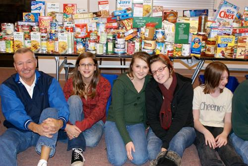 Active in the community - food drive
