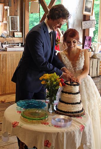 Bicknel Wedding/Reception 2018 - Cutting the Cake
