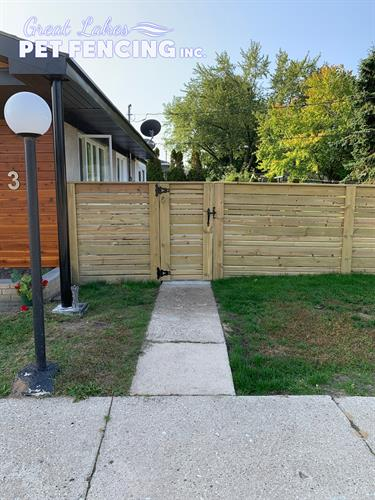 Horizontal Pressure Treated Pine Slip Fence