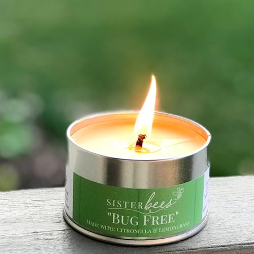 Bug Free Citronella Beeswax Candle