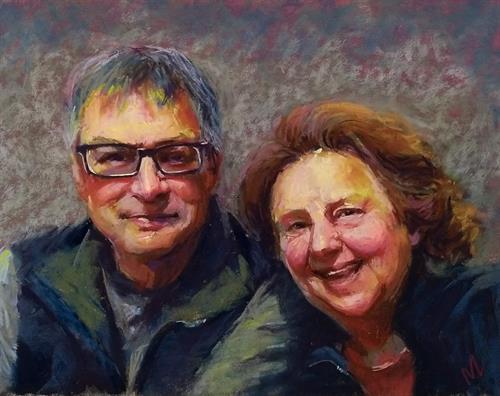 """Joe and Anna"" 11x14"" pastel"