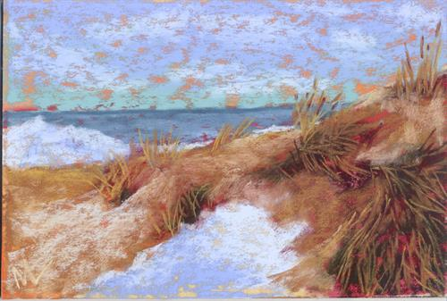 """Swirls of Dune Grass"" 9x6"" pastel"