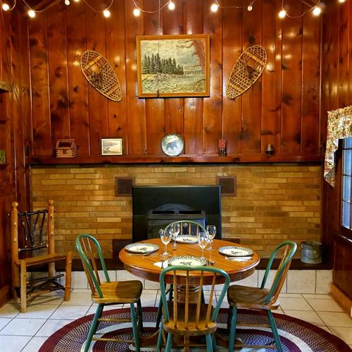 Large cabin dining area