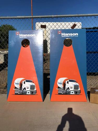 Hanson Aggregates employees having fun at the annual Employee Appreciation Touch-a-Truck Event
