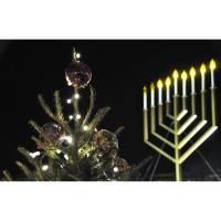 Menorah and Christmas Tree Lighting