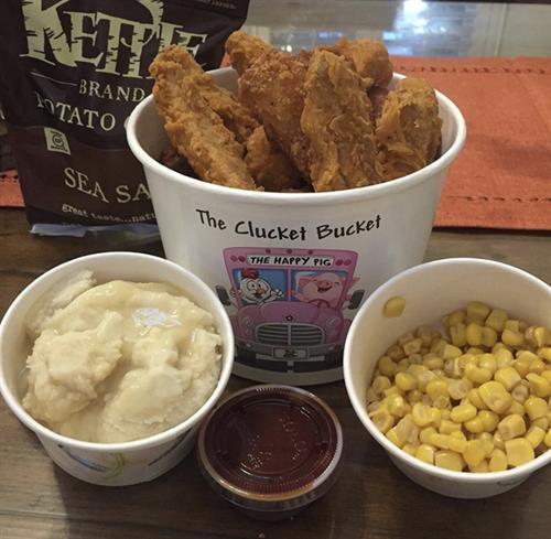 Clucket Bucket™ Vegan Fried Chik'n with sides