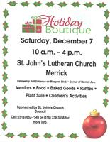 St. John's Lutheran Church Holiday Boutique