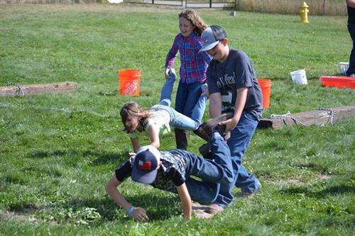 Kids having fun at the fair
