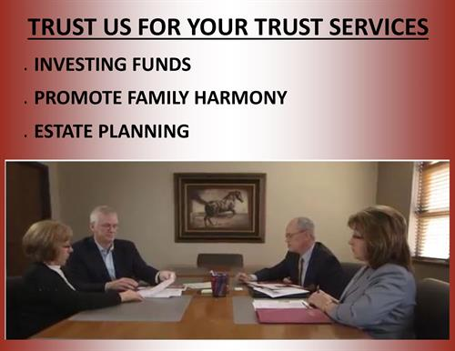 TRUST US WITH YOUR TRUST SERVICES