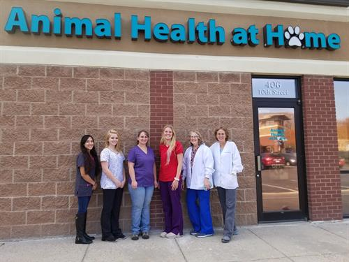 The staff at Animal Health at Home