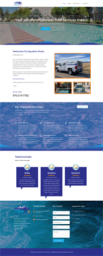 AquaPro Pools Design & Hosting