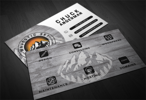 Majestic Sky Web Design Business Cards