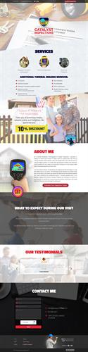 Catalyst Inspections Responsive Single Page Design Loveland Colorado