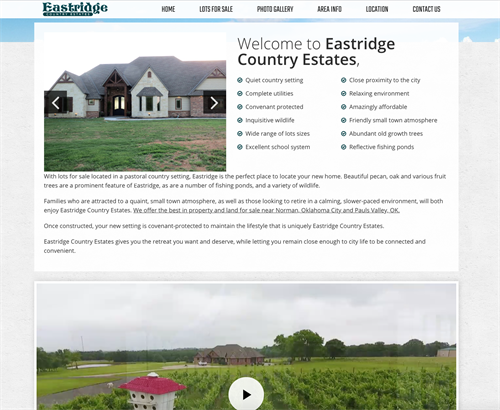 Eastridge Lots for Sale - Website Design