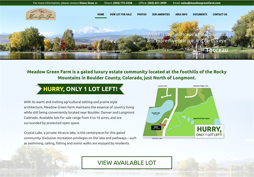 Meadow Green Farm Longmont - Responsive Design Website