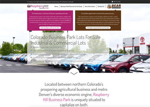 Raspberry Hill Commercial Business Lots For Sale - Custom Website