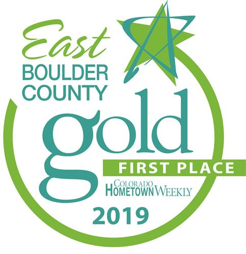 2019 East Boulder County Gold Best Roofing Company