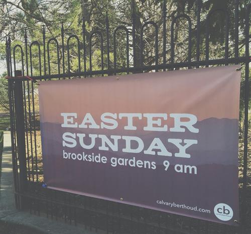 Our Easter Service is at Brookside Gardens each year, 9am.