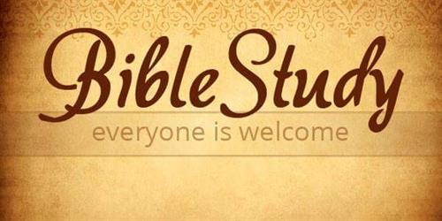 Bible Study, Wednesdays @ 6pm