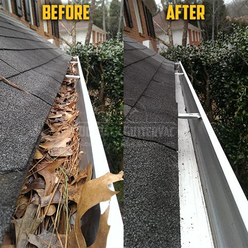 Gutter Cleaning - Before & After