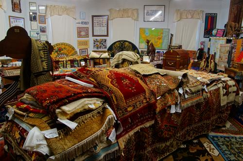 A classroom dedicated to learning about Oriental rugs; open for workshops and club meetings.....