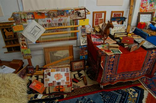 A Navajo loom tells the story about flat weaves....