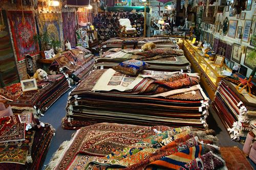 the largest selection of genuine hand-tied oriental rugs....all with upfront pricing- no games or gimmicks nor phoney sales, just 'Real Rugs at Real Savings'