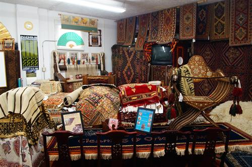 Surrounded by art and beauty; this is such a great place to learn more about Oriental rugs in a relaxed environment...