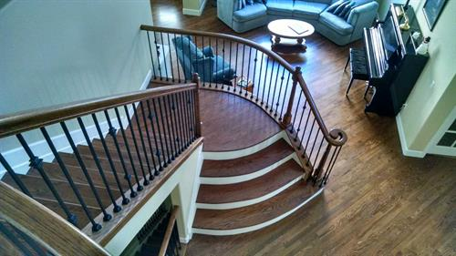 Fort Collins Floor and stairs completed by Linnertz Hardwood Flooring