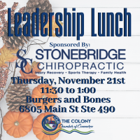 Leadership Lunch Sponsored by Stonebridge Chiropratic