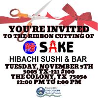 Ribbon Cutting Celebration for Sake Hibachi Sushi & Bar