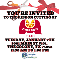 Ribbon Cutting Celebration for Marcos Pizza