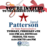 Ribbon Cutting for Jared Patterson State Representative