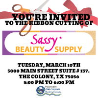 Ribbon Cutting Celebration for Sassy Beauty Supply