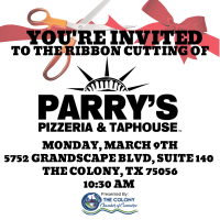 Ribbon Cutting Celebration for Parrys Pizzeria and Taphouse