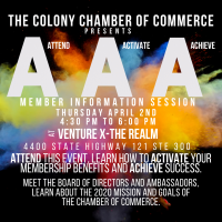 CANCELLED-Attend! Activate! Achieve! Member Orientation and Reception