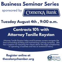 Business Seminar presented by Comerica Bank: Contracts 101