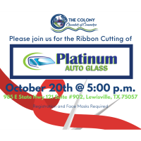 Ribbon Cutting for Platinum Auto Glass